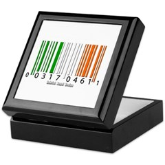 Barcode Irish Flag Keepsake Box