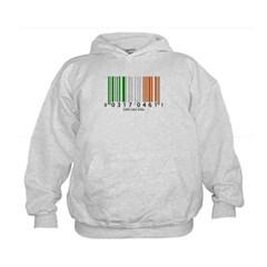Barcode Irish Flag Kids Sweatshirt by Hanes