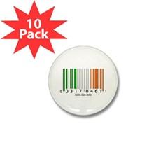 Barcode Irish Flag Mini Button (10 pack)
