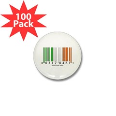 Barcode Irish Flag Mini Button (100 pack)