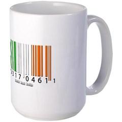 Barcode Irish Flag Mug