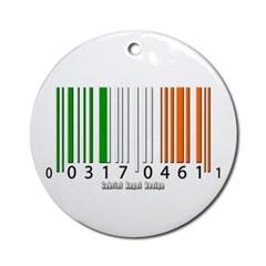Barcode Irish Flag Ornament (Round)