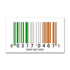 Barcode Irish Flag Rectangle Decal