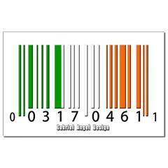 Barcode Irish Flag Small Posters