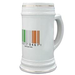 Barcode Irish Flag Stein