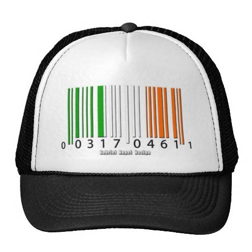 Barcode Irish Flag Trucker Hat