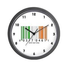 Barcode Irish Flag Wall Clock