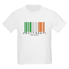 Barcode Irish Flag Youth T-Shirt by Hanes