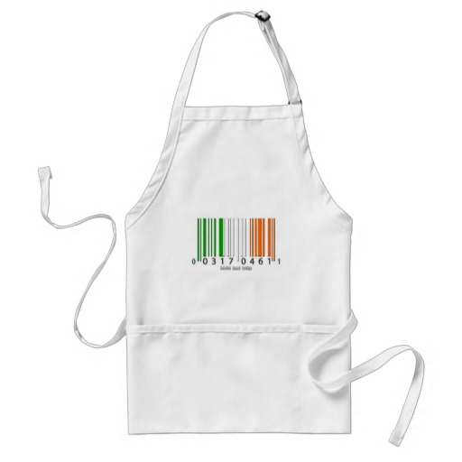 Irish  Barcode Flag Adult Apron