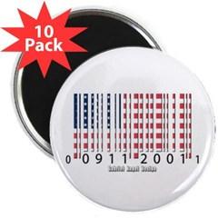 "Barcode USA Flag 2.25"" Magnet (10 pack)"