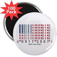 "Barcode USA Flag 2.25"" Magnet (100 pack)"
