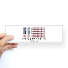 Barcode USA Flag Bumper Sticker