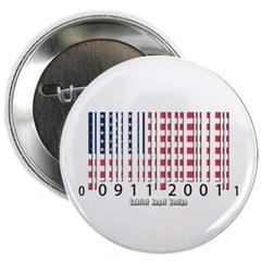 Barcode USA Flag Button