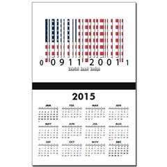 Barcode USA Flag Calendar Print