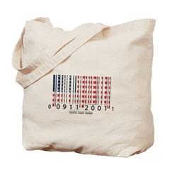Barcode USA Flag Canvas Tote Bag