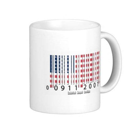 Barcode USA Flag Classic White Mug