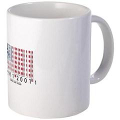 Barcode USA Flag Coffee Mug