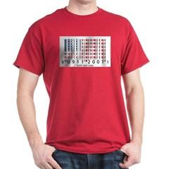 Barcode USA Flag Dark T-shirt
