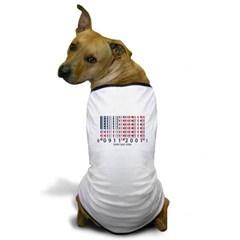 Barcode USA Flag Dog T-Shirt