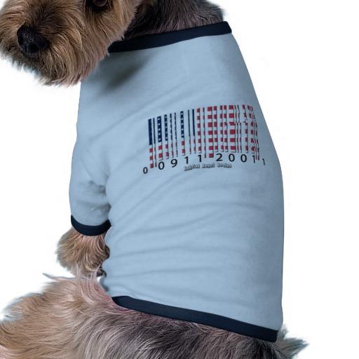 Barcode USA Flag Doggie Ringer T-Shirt