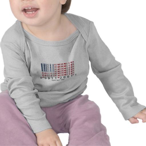 Barcode USA Flag Infant Bella Long Sleeve T-Shirt
