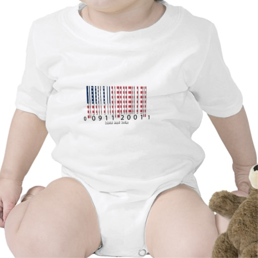 Barcode USA Flag Infant Creeper