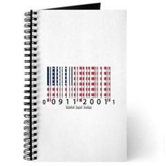 Barcode USA Flag Journal