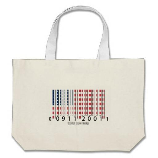 Barcode USA Flag Jumbo Tote