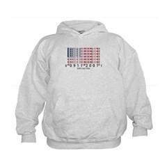 Barcode USA Flag Kids Sweatshirt by Hanes