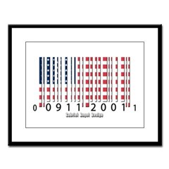 Barcode USA Flag Large Framed Print