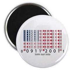 Barcode USA Flag Magnet