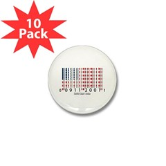 Barcode USA Flag Mini Button (10 pack)