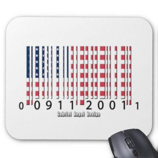 Barcode USA Flag Mousepad