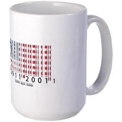 Barcode USA Flag Mug