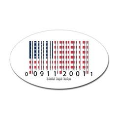 Barcode USA Flag Oval Decal