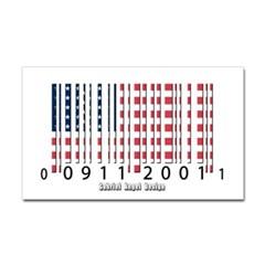 Barcode USA Flag Rectangle Decal