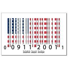 Barcode USA Flag Small Posters