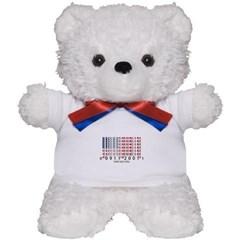 Barcode USA Flag Teddy Bear