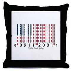 Barcode USA Flag Throw Pillow