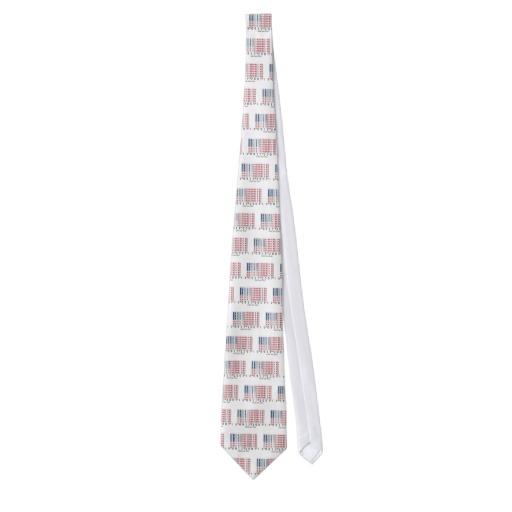 Barcode USA Flag Tie