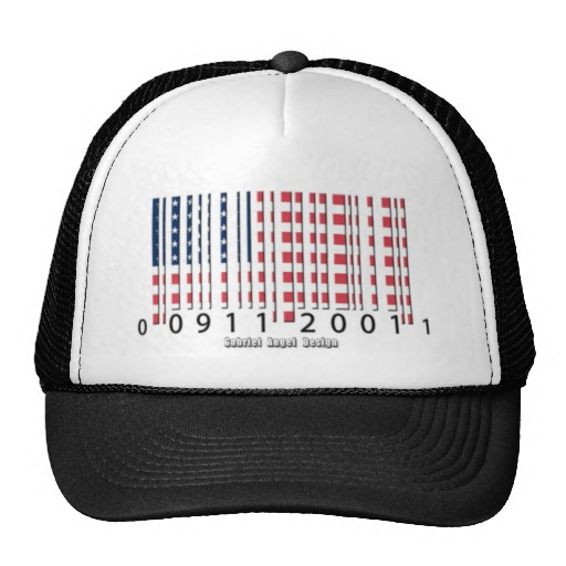 Barcode USA Flag Trucker Hat