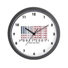 Barcode USA Flag Wall Clock