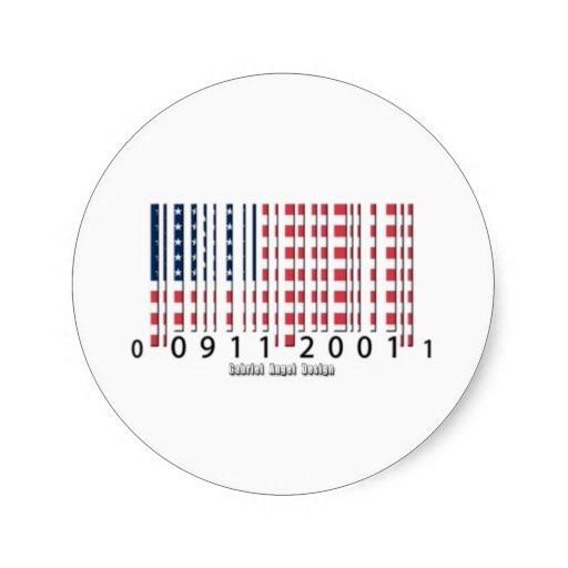 USA Barcode Flag Classic Round Sticker