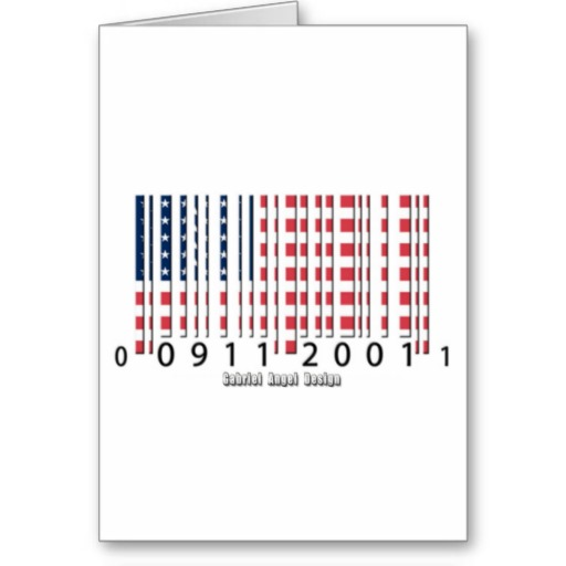 USA Barcode Flag Greeting Card