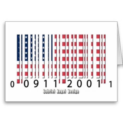 USA Barcode Flag Greeting Card