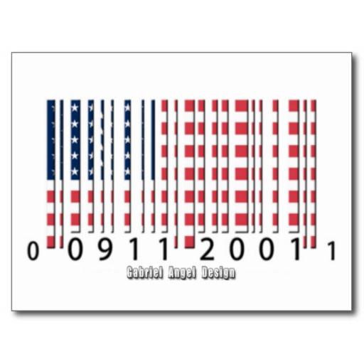 USA Barcode Flag Postcard