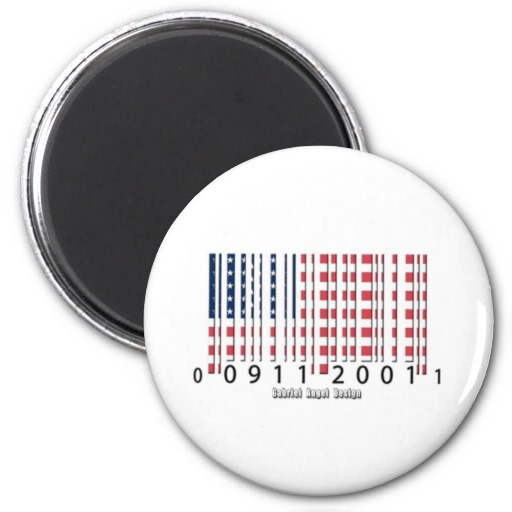 USA Barcode Flag Refrigerator Magnet
