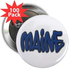 "Maine Graffiti 2.25"" Button (100 pack)"