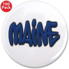 "Maine Graffiti 3.5"" Button (100 pack)"