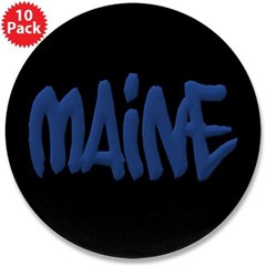 "Maine Graffiti 3.5"" Button (10 pack)"